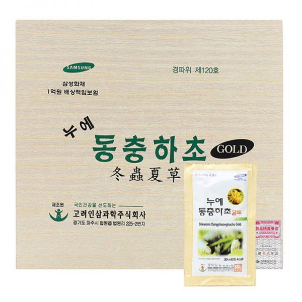 Đông Trùng Hạ Thảo Dạng Nước Hàn Quốc Gold Hộp Gỗ 01