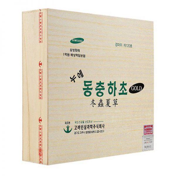 Đông Trùng Hạ Thảo Dạng Nước Hàn Quốc Gold Hộp Gỗ 02